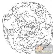 100个中国传统吉祥图-矢量图-荷花-B-031-传统图案