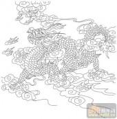 龙-矢量图-龙扬吐珠-long149-中国传统龙图