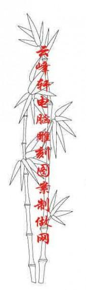 梅兰竹菊-白描图-竹子-mlxj039-梅兰竹菊白描线描图