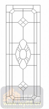 雕刻玻璃图案-12镶嵌-几何花纹-00029