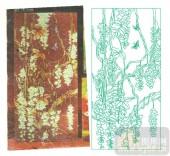 2011设计艺术玻璃刻绘-好运连连-雕刻玻璃图案