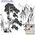 2010.4.3迎客松-白描图-古松葱翠-yks011-迎客松白描图