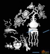 四季花1-花苞-002-四季花浮雕图库