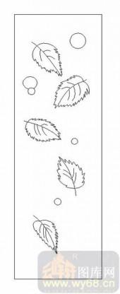 09现代装饰-落叶-00053-喷砂玻璃图库