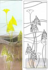 05肌理雕刻系列样图-叶子-00043-玻璃门