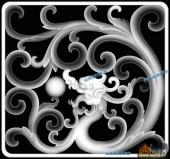 03-团龙-001-龙凤浮雕灰度图