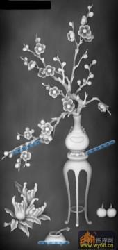 04-梅花-013-花鸟精雕灰度图