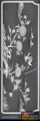 01-花鸟-031-花鸟灰度图案