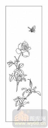 04花草禽鸟-月季花-00054-喷砂玻璃