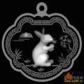兔子-精雕灰度图