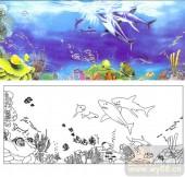 04肌理雕刻系列样图-海底世界-00213-雕刻玻璃图案