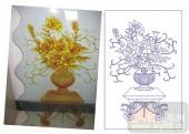 2011设计艺术玻璃刻绘-欧式玫瑰-艺术玻璃图库
