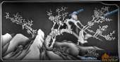 03-梅花-034-花鸟灰度图案