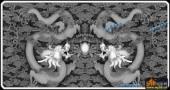 01-二龙戏珠-036-浮雕灰度图