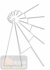 雕刻玻璃图案-11门窗组合-几何线条-00022