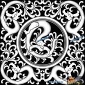 草龙-团龙纹-097-龙凤精雕灰度图