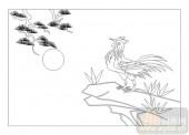 03动物系列-山鸡舞镜-00050-装饰玻璃