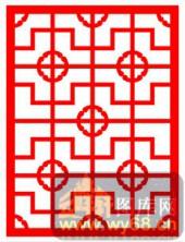 中式镂空装饰001-十字花纹-中式镂空装饰001-005-雕花板