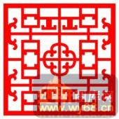 中式镂空装饰001-如间花纹-中式镂空装饰001-010-玄关隔断