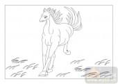 03动物系列-走马赴任-00092-雕刻玻璃图案