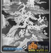 百子图001-童戏-116-百子图浮雕灰度图
