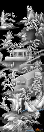 百子图002-仙境-03-百子图浮雕图库