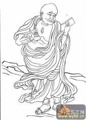 18罗汉3-矢量图-罗汉8-中国国画矢量罗汉