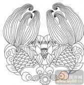 100个中国传统吉祥图-矢量图-双鱼-B-022-路径图