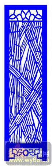 屏风001-竹子纹理-屏风1-003-镂空效果