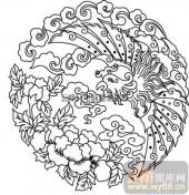 100个中国传统吉祥图-矢量图-凤凰牡丹-B-012-中国图片