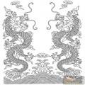 龙-白描图-海中威龙-long7-龙图片
