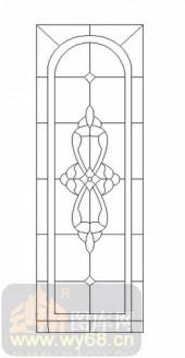 雕刻玻璃-12镶嵌-艺术花纹-00017