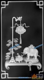 其它图-太平象-008-多宝格浮雕灰度图