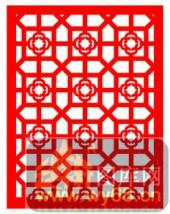 镂空装饰单式002-六边形花纹-镂空装饰单式002-005-装修效果图