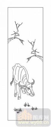 03动物系列-老黄牛-00024-艺术玻璃图库