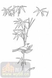 喷砂玻璃-08四扇门(4)-竹韵-00018