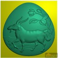 羊 花卉-雕刻素材