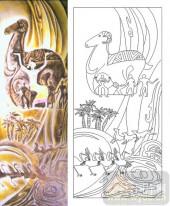 喷砂玻璃图库-肌理雕刻系列1-神羊-00024