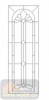 艺术玻璃图-12镶嵌-优美花纹-00027