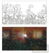 2011设计艺术玻璃刻绘-玉美人1-喷砂玻璃