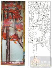 2011设计艺术玻璃刻绘-木棉花-雕刻玻璃