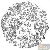 凤-白描图-龙凤呈祥-huangf026-凤图片