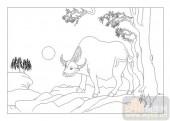03动物系列-俯首甘为孺子牛-00047-装饰玻璃