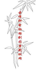 梅兰竹菊-白描图-竹子-mlxj026-梅兰竹菊全图