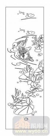 04花草禽鸟-荷花塘-00018-艺术玻璃图库