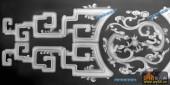 古董架001-传统花纹-009-古董架雕刻灰度图