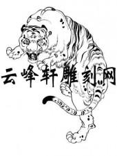 虎2-矢量图-虎狼之势-63-虎雕刻图案