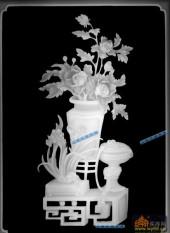 04-牡丹-041-花鸟浮雕灰度图