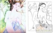艺术玻璃图-肌理雕刻系列1-美女图-00082