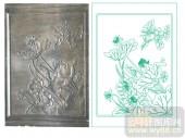 2011设计艺术玻璃刻绘-台面荷花-喷砂玻璃图库